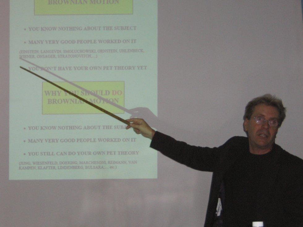 The popular science lecture of prof. P. Hanggi (2005) ,Department of Computational Physics, Hanggi, photo