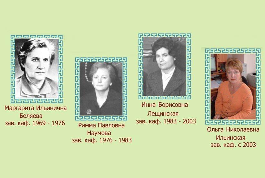 Заведующие кафедрой микробиологии Казанского университета ,Заведующие кафедрой, микробиология