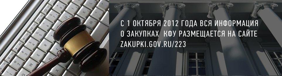 Информация о Закупках КФУ
