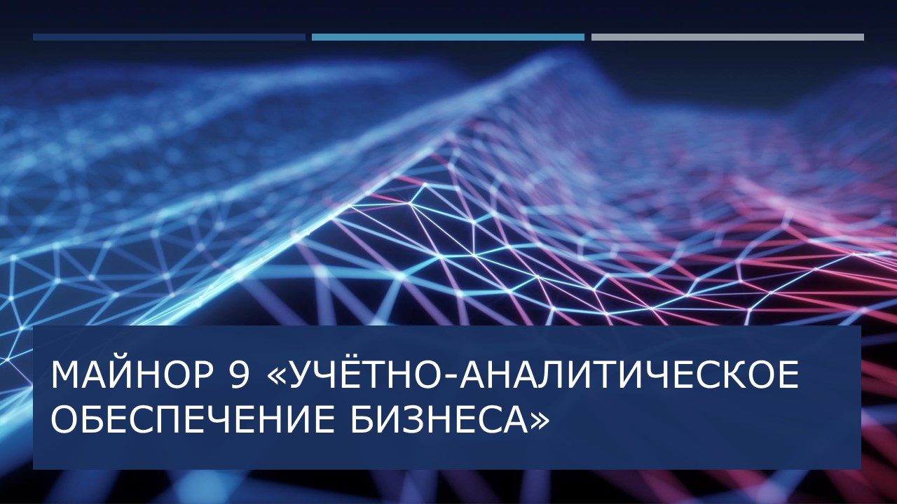 Майнор 9 ''Учетно-аналитическое обеспечение бизнеса''