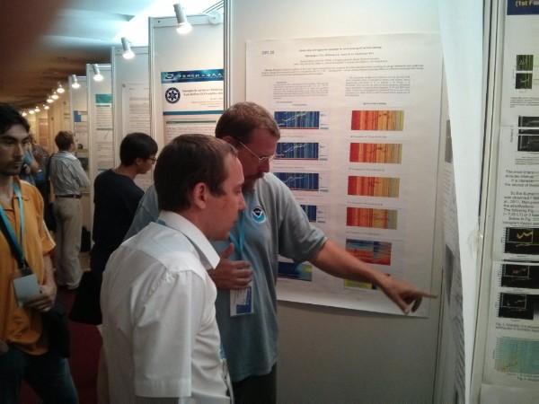 Юсупов обсуждает результаты со специалистом мирового уровня по изготовлению dynasonde T.W. Bullett
