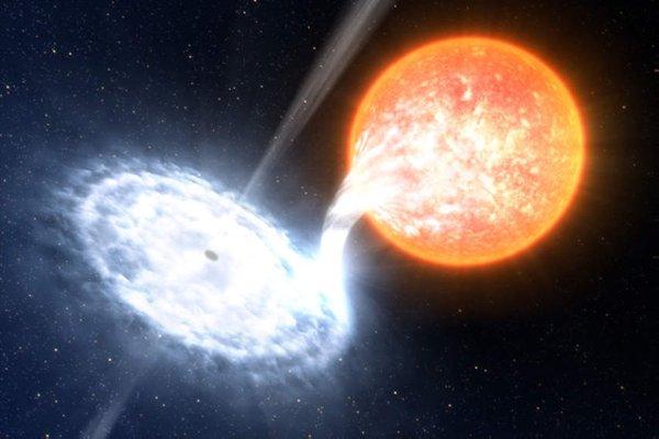 Аккреция вещества в чёрную дыру