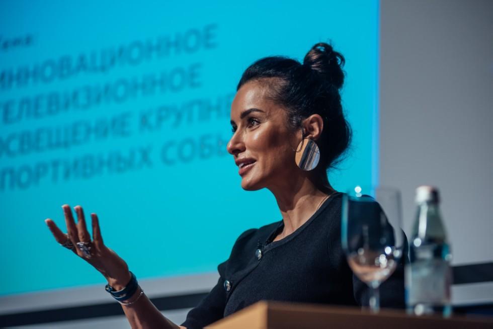 Тина Канделаки рассказала студентам ВШЖиМК КФУ, как попасть на работу 'Матч ТВ' ,Канделаки, шоу-рум, ВШЖиМК
