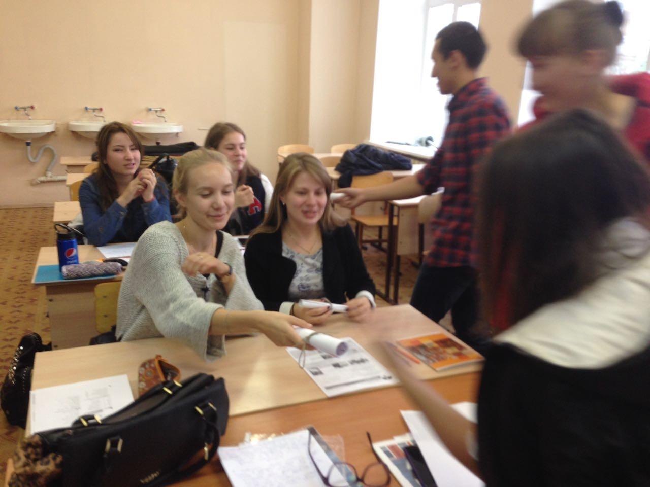 знакомство со студентами первого курса