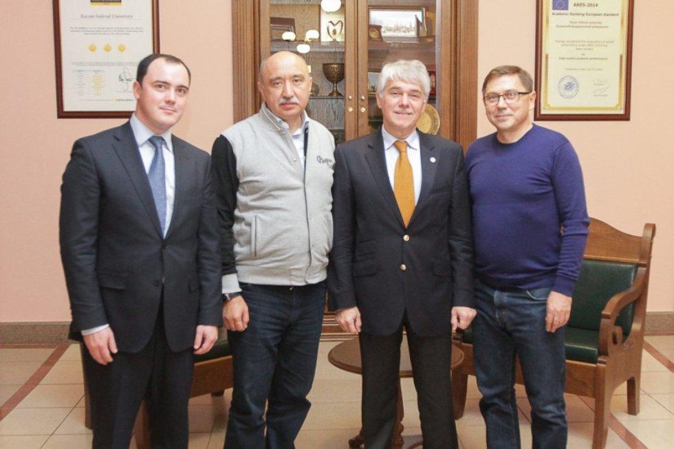 Встреча ректора с представителями компании Toshiba ,Toshiba, Ильшат Гафуров, ИФМиБ