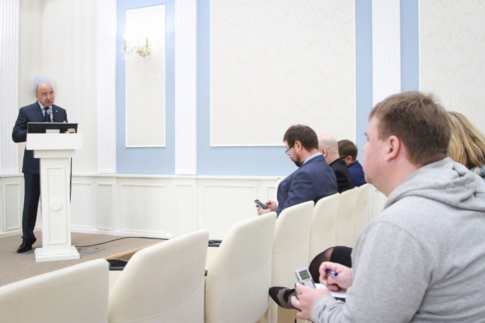 Пресс конференция по THE ,Times Higher Education, Ильшат Гафуров, Пресс-конференция