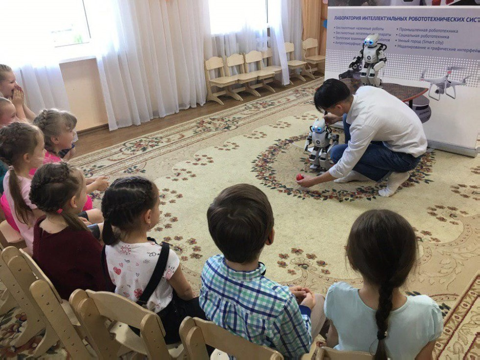 In the Kazan kindergarten №188 was successfully finished series of lessons with the robot ,Intelligent robotics, Master's program in Intelligent Robotics, Laboratory of Intelligent Robotic Systems,LIRS, Higher Institute of Information Technologies and Intelligent Systems, ITIS