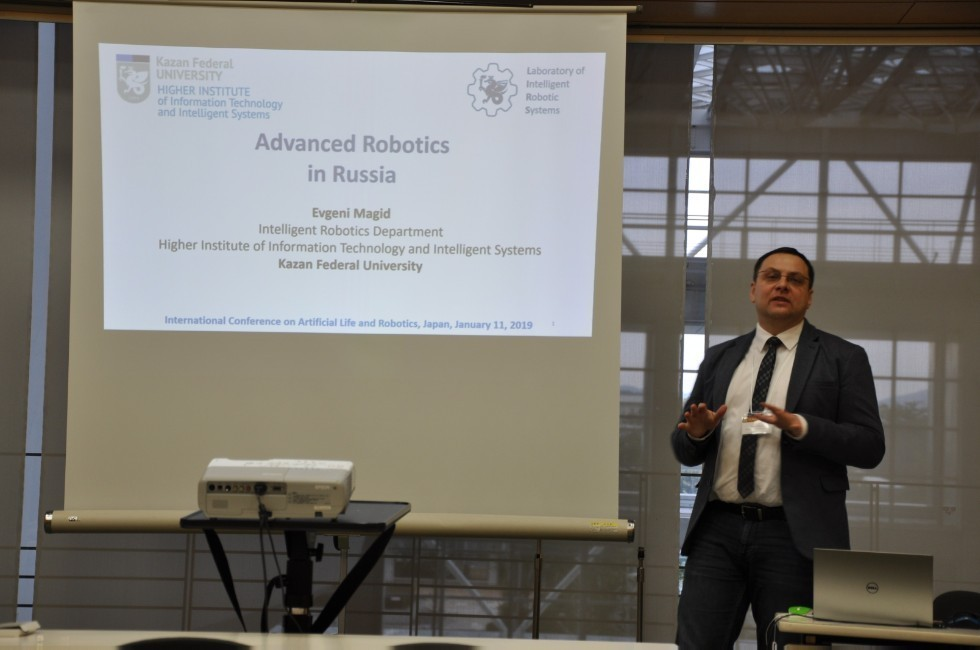 LIRS presented the results of scientific work on the International Conference ICAROB 2019, Japan ,LIRS, ITIS, robotics