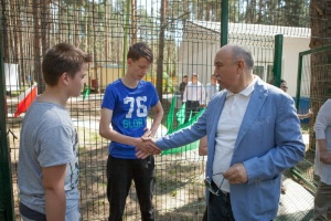 Profile session 'IT-territory' was opened with a ceremonial event on the ground of sports camp 'Burevestnik'