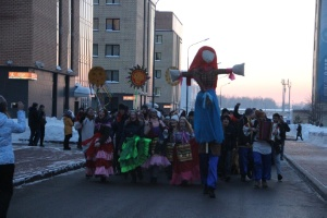 Maslenitsa Celebrated in Universiade Village ,Maslenitsa, Eastern Slavs, holidays, Universiade Village, food, pancakes, effigy, chastushka