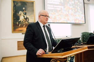 Ambassador of Finland Mikko Hautala lectured about the Finnish concept of happiness at Kazan Federal University ,Finland, Ambassador of Finland