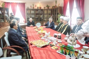 Delegation of the Muslim Board of Russia at Kazan University