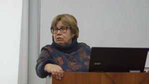 On February 13, the popular science lecture 'Linguistics and Country Studies: Mentality, Language, Culture' was delivered by Lyudmila Svirina, an associate professor in the Department of Linguistic and Intercultural Communication