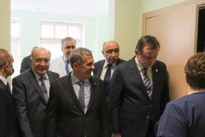 President of Tatarstan Rustam Minnikhanov and Rector Ilshat Gafurov at Moscow State University